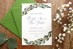 Save The Date Template - Verdes
