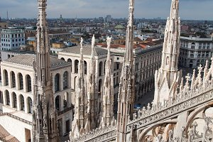 City view of Milan, Italy