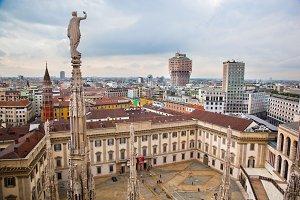 Milan panorama, Italy
