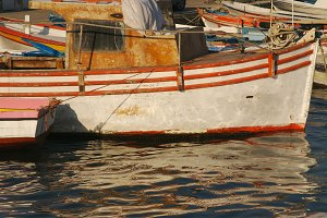 Old Boat on a Turkish Harbor