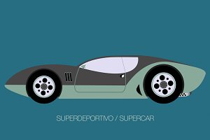 classical super sport car