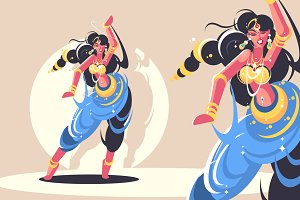 Indian girls dance