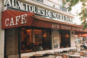 Paris Cafe near Notre Dame