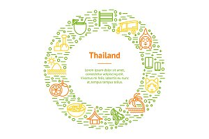 Thailand Travel and Tourism Set.