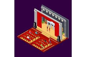 Theatre Interior with Furniture