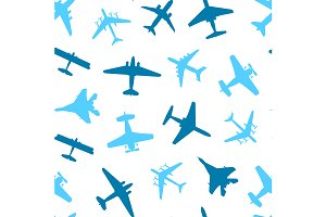 Silhouette Plane Pattern Background