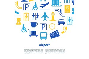 Airport Concept Set. Vector