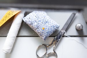 sewing accesories background