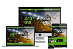 LT Soccer Onepage - Soccer Joomla