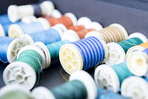 sewing threads background