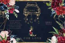 L for Love - Huge Floral Graphic Set