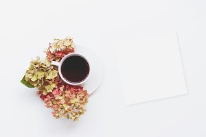 Floral Tea Flatlay