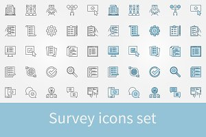 Survey vector icons set