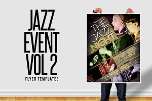 Jazz Event Flyer Templates Vol 2