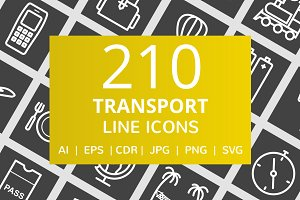 210 Transport Line Inverted Icons