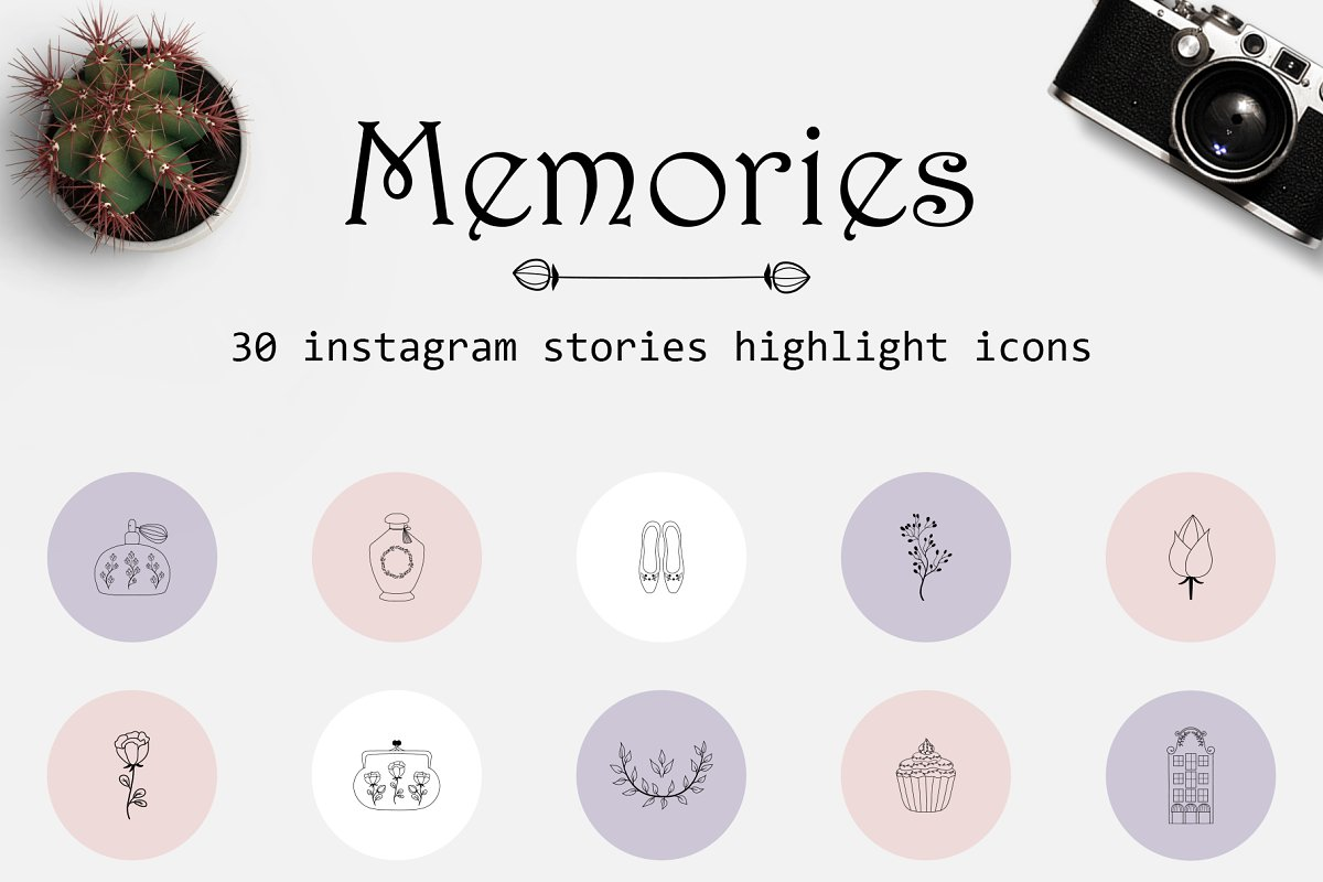 Instagram stories highlights icons in Instagram Templates - product preview 8