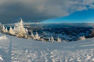 Minter Carpathian mountains