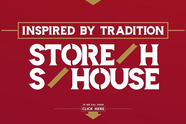 Display Fonts: LeoSupply.co - Storehouse Font + Vector shapes