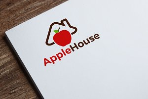 Apple House Logo Template