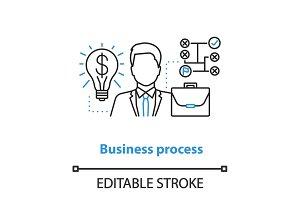 Business development concept icon