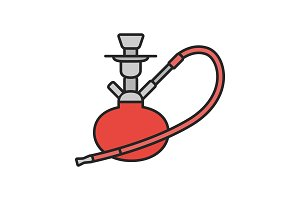 Hookah color icon