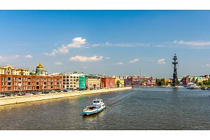 View of the Moskva River in Moscow, Russia