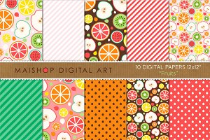 Digital Paper - Fruits