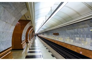 Park Pobedy station of Moscow subway - Russia