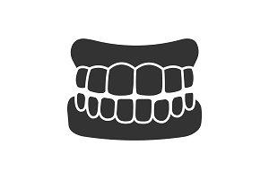 Dentures glyph icon