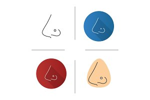Pierced nose icon