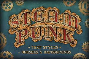 Steam Punk Text Styles + Bonus
