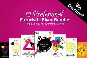 10 Futuristic Electro Flyer Bundle