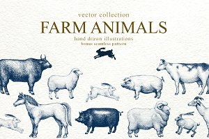 Farm Animals Vector Collection