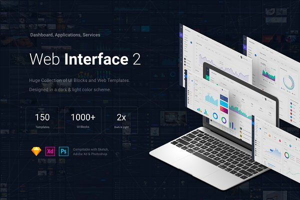 Website Templates - Web Interface 2, Sketch, XD, PSD