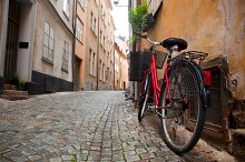 A bike in the old town, Stockholm
