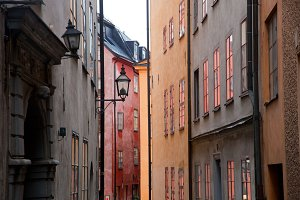 Buildings in the old town, Stockholm