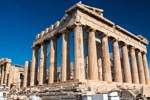 Parthenon temple, Acropolis, Athens,