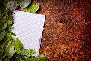 Open menu book