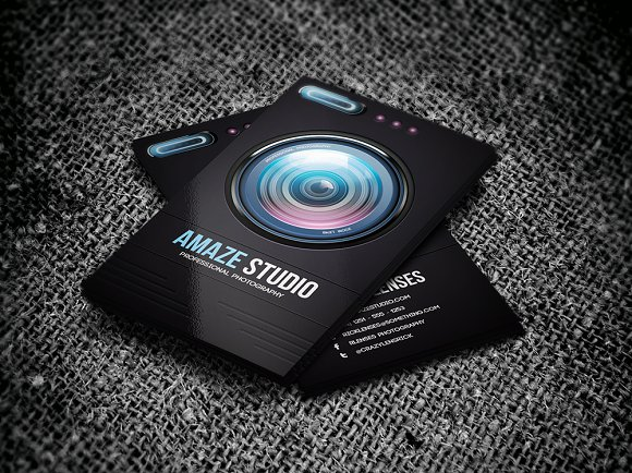 Photographer lens business card business card templates creative photographer lens business card business cards fbccfo Gallery