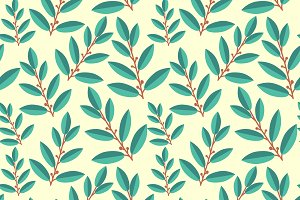Laurus seamless pattern