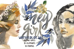 Hey girl! Watercolor set