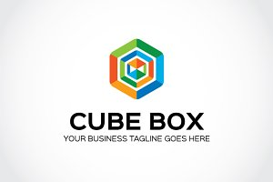 Cube Box Logo Template