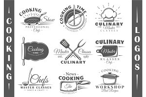 9 Cooking Logos Templates Vol.1