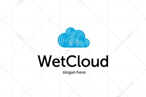 Wet Cloud Logo Template