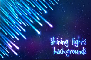 6 shining cosmic lights backgrounds