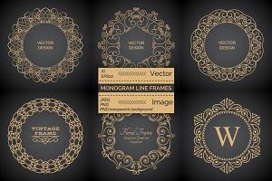 Monogram line vintage frames