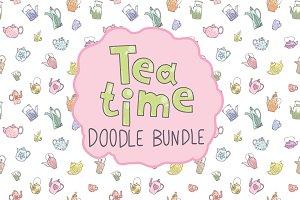 Tea time doodle bundle.