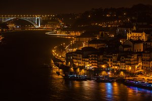Overview of Old Town of Porto,