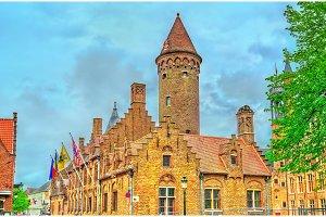 Historical buildings in Bruges, Belgium