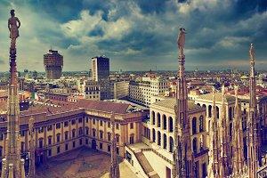 Panorama of Milan, Italy